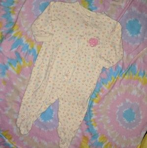 Baby girls sleeper by Carter's size 6-9 mos.